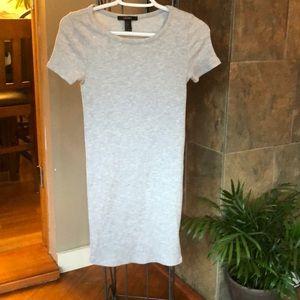 Forever 21 Grey Ribbed Mini Dress